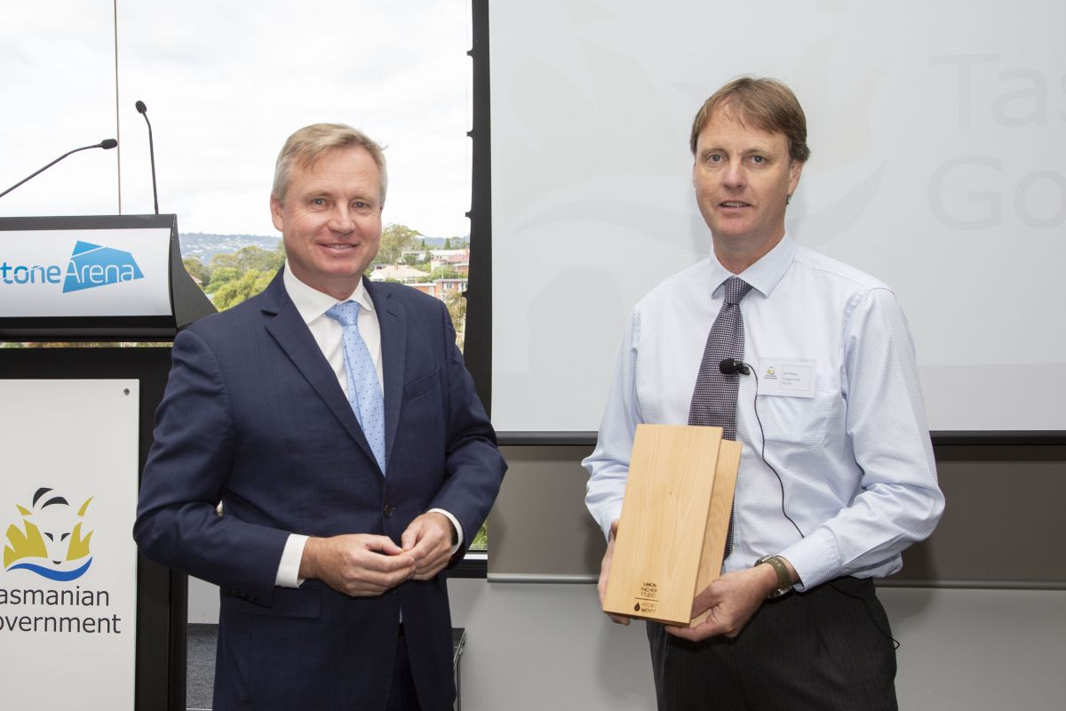 Forager Foods award presentation with Minister Rockliff